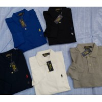 RALPH LAUREN MEN'S CUSTOM FIT FULL SLEEVE POLO'S